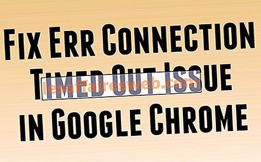 Correction du problème de délai de connexion err dans Google Chrome