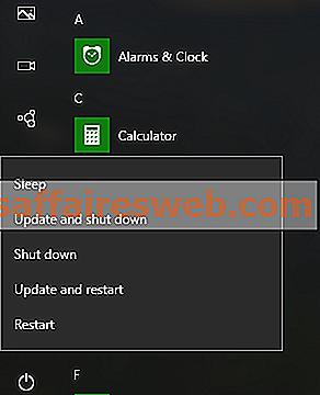 Завершите работу Windows 10 без установки обновлений