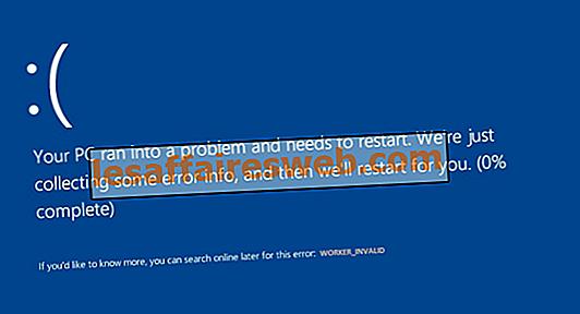 Perbaiki WORKER_INVALID Blue Screen Error pada Windows 10