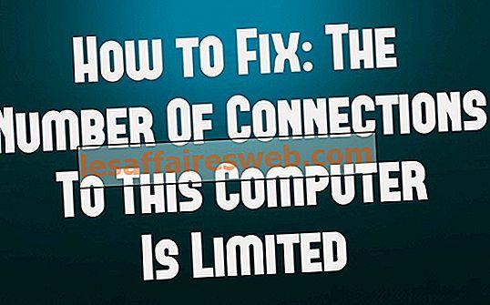 Fixa antalet anslutningar till den här datorn är begränsat