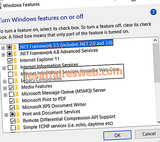 Microsoft .NET Framework 3.5를 설치하는 방법
