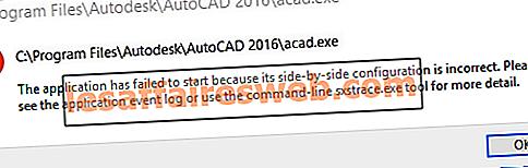 Betulkan Aplikasi telah gagal dimulakan kerana konfigurasi sebelah menyebelah tidak betul