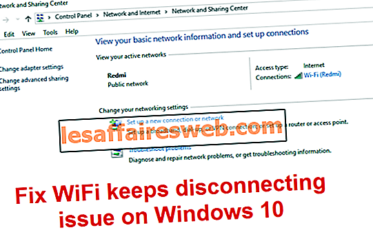 Il WiFi continua a disconnettersi in Windows 10