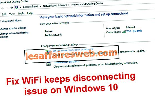 WiFi продолжает отключаться в Windows 10
