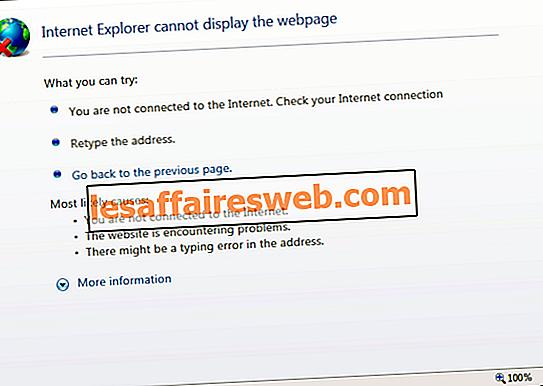 Fix Internet Explorer tidak dapat menampilkan kesalahan halaman web