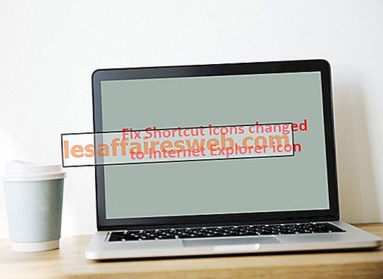 Ikon Perbaiki Shortcut berubah menjadi ikon Internet Explorer
