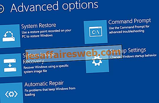 Zugriff auf erweiterte Startoptionen in Windows 10