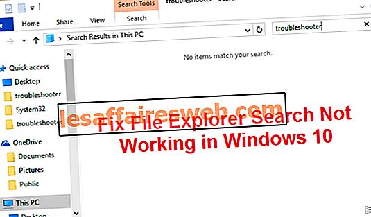 Behebung, dass die Datei-Explorer-Suche unter Windows 10 nicht funktioniert