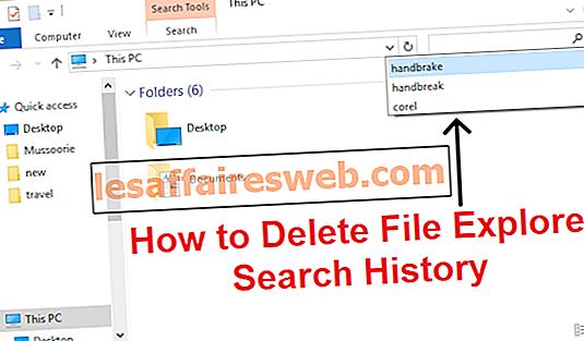 Comment supprimer l'historique de recherche de l'explorateur de fichiers