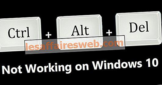 Исправить Ctrl + Alt + Del не работает на Windows 10