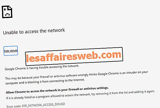 Fix Fehler beim Zugriff auf Netzwerk in Chrome nicht möglich (ERR_NETWORK_CHANGED)