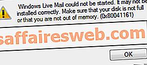 Perbaiki Windows Live Mail tidak akan mulai