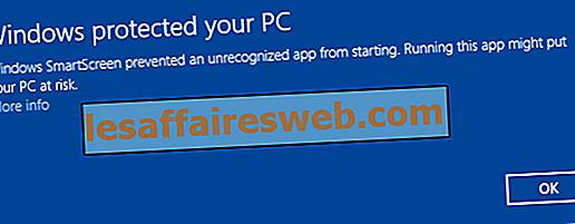 Désactiver le filtre SmartScreen dans Windows 10