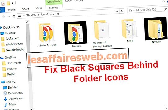 Correggi i quadrati neri dietro le icone delle cartelle