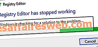 Perbaiki Editor Registri telah berhenti bekerja