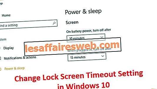 Изменить настройки времени ожидания экрана блокировки в Windows 10