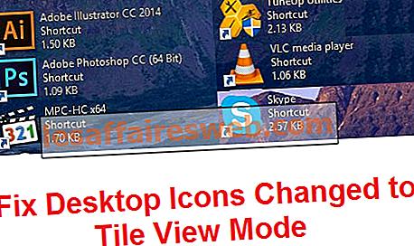 Correggi le icone del desktop modificate in modalità Vista a riquadri