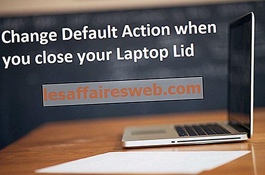 Cambia azione predefinita quando chiudi il coperchio del laptop