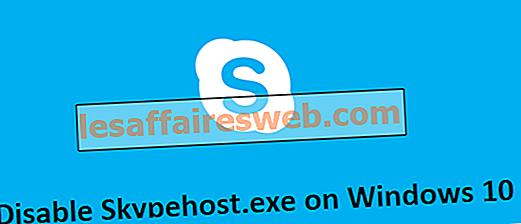 Comment désactiver Skypehost.exe sur Windows 10