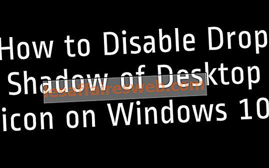 Windows 10でデスクトップアイコンのドロップシャドウを無効にする