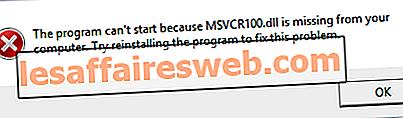 Correzione dell'errore MSVCP100.dll mancante o non trovato
