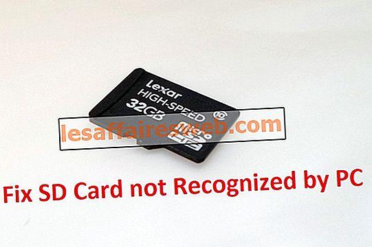 Fixa SD-kort som inte erkänns av PC