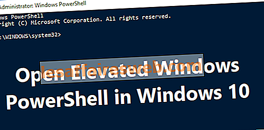 7 façons d'ouvrir Elevated Windows PowerShell dans Windows 10