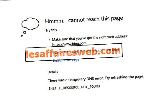 Fix INET_E_RESOURCE_NOT_FOUND-fel på Windows 10