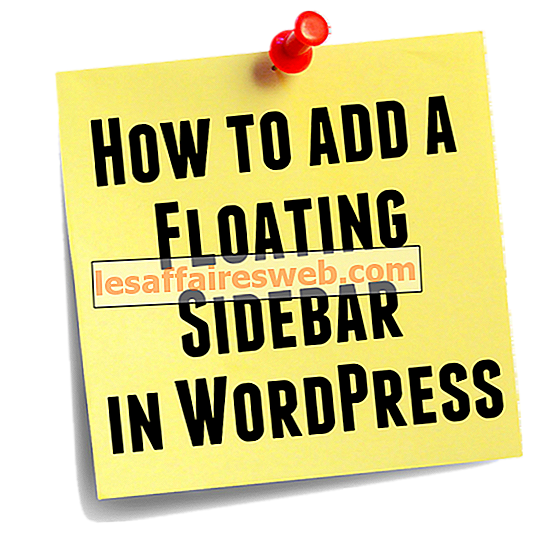 WordPress에 플로팅 사이드 바를 추가하는 방법