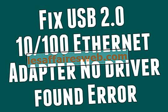 USB 2.0 10/100イーサネットアダプターを修正する方法ドライバーが見つかりませんエラー