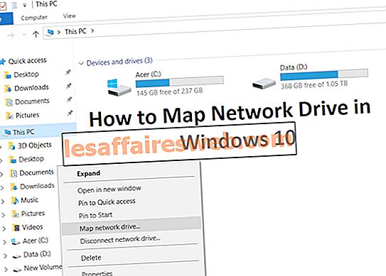 Windows 10에서 네트워크 드라이브를 매핑하는 2 가지 방법