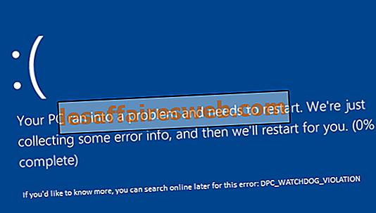 Perbaiki Kesalahan DPC_WATCHDOG_VIOLATION 0x00000133