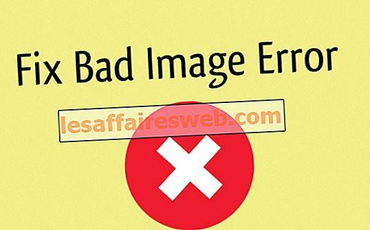 Correction d'une erreur d'image incorrecte - Application.exe n'est pas conçu pour fonctionner sous Windows ou contient une erreur