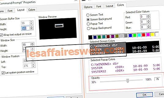 명령 프롬프트 화면 버퍼 크기 및 투명도 수준 변경