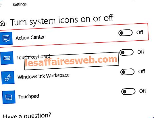 Windows 10でアクションセンターを有効または無効にする