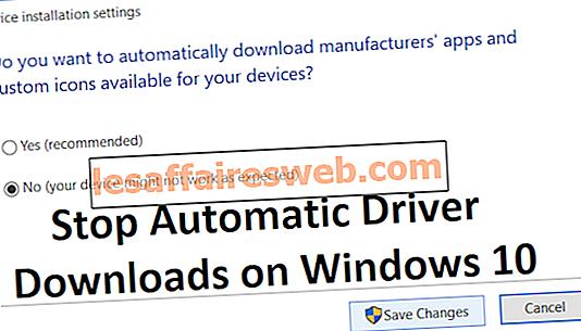 Arrêter les téléchargements automatiques de pilotes sur Windows 10