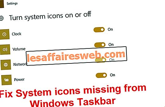 Correction des icônes système manquantes dans la barre des tâches de Windows