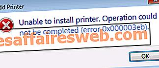 Исправить ошибку установки принтера 0x000003eb