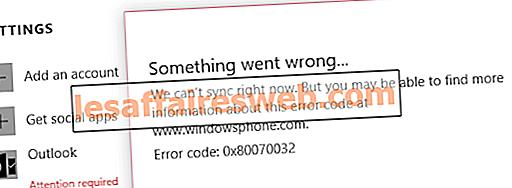 Исправить ошибку при синхронизации почтового приложения в Windows 10