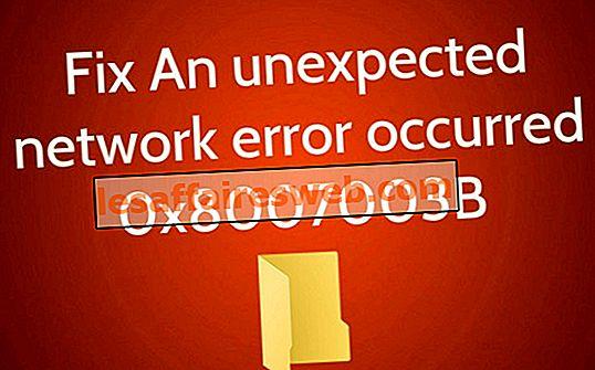 Исправлена непредвиденная ошибка сети 0x8007003B