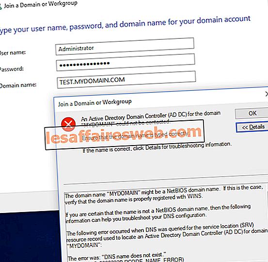 Fix Active Directory-Domänencontroller konnte nicht kontaktiert werden