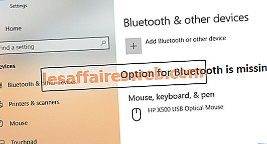 Die Option zum Ein- und Ausschalten von Bluetooth in Windows 10 fehlt