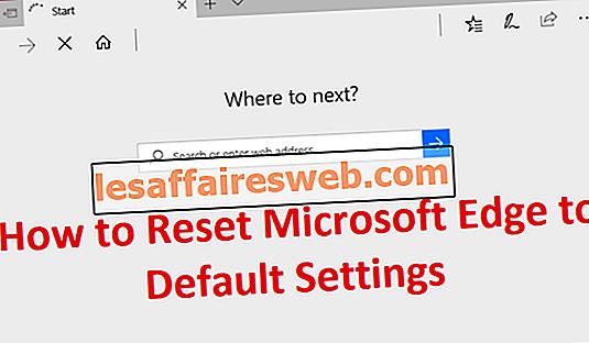 Réinitialiser Microsoft Edge aux paramètres par défaut
