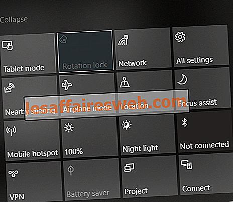 Correggi Blocco rotazione disattivato in Windows 10