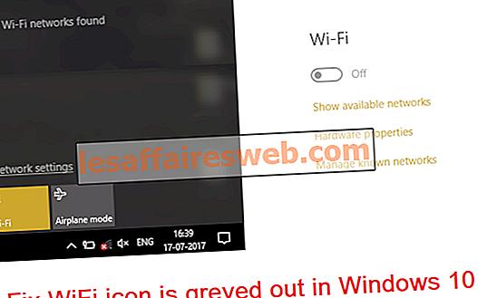 Fix WiFi-ikonen är gråtonad i Windows 10