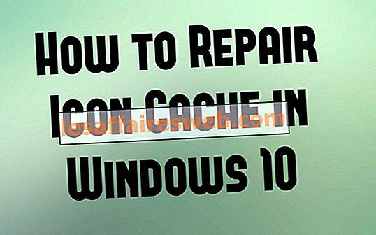 Comment réparer le cache d'icônes dans Windows 10