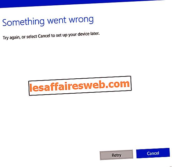 Fix Något gick fel vid skapandet av konto i Windows 10
