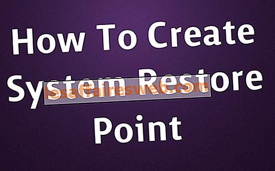 Hur man skapar en systemåterställningspunkt