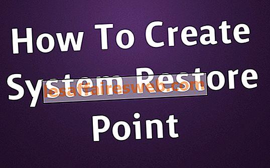 Cara membuat titik pemulihan sistem