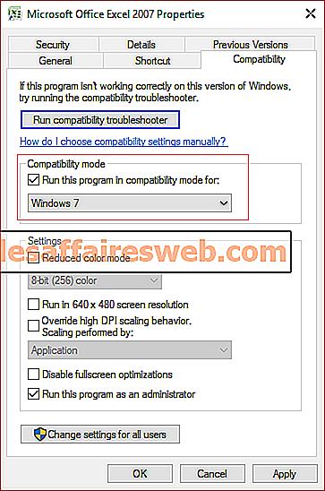 Ändern Sie den Kompatibilitätsmodus für Apps in Windows 10